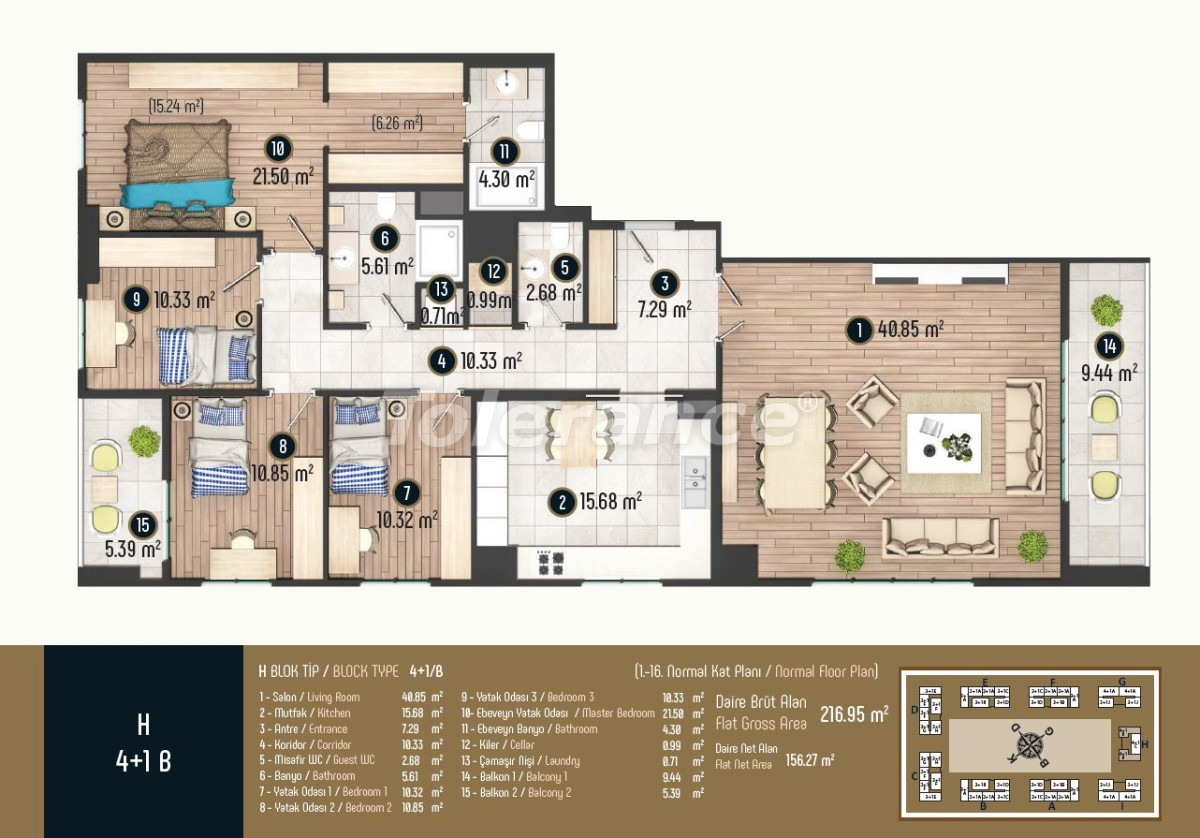 Luxury apartments in Istanbul in a modern complex, profitable for investment - 34588   Tolerance Homes