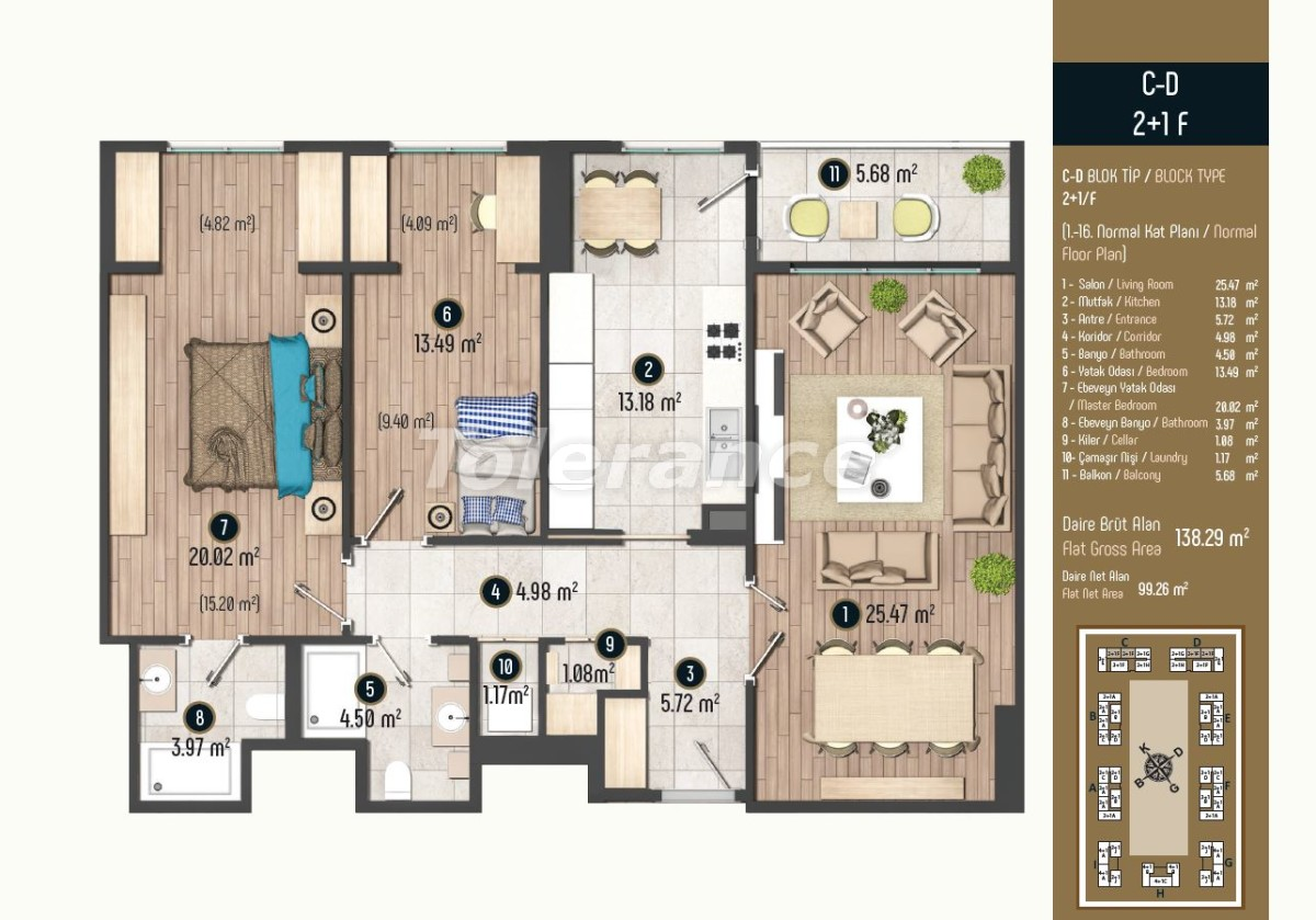 Luxury apartments in Istanbul in a modern complex, profitable for investment - 34583   Tolerance Homes