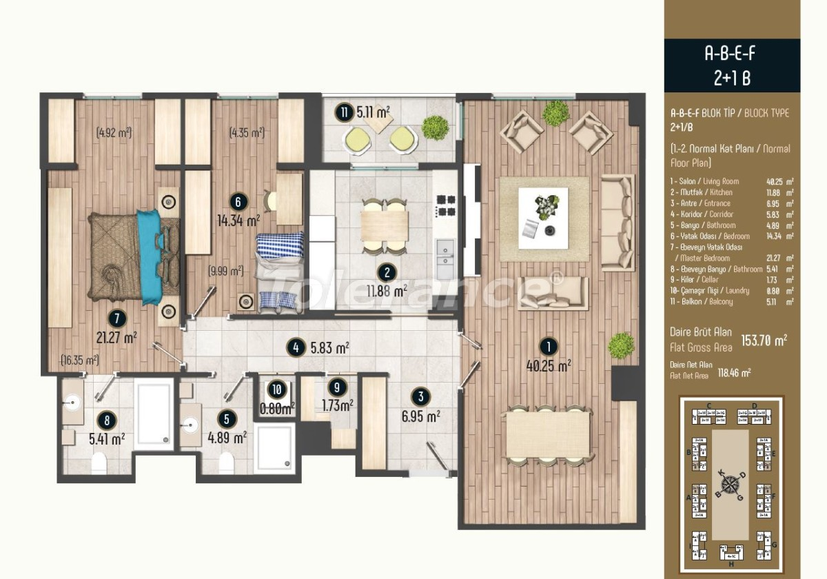 Luxury apartments in Istanbul in a modern complex, profitable for investment - 34581   Tolerance Homes