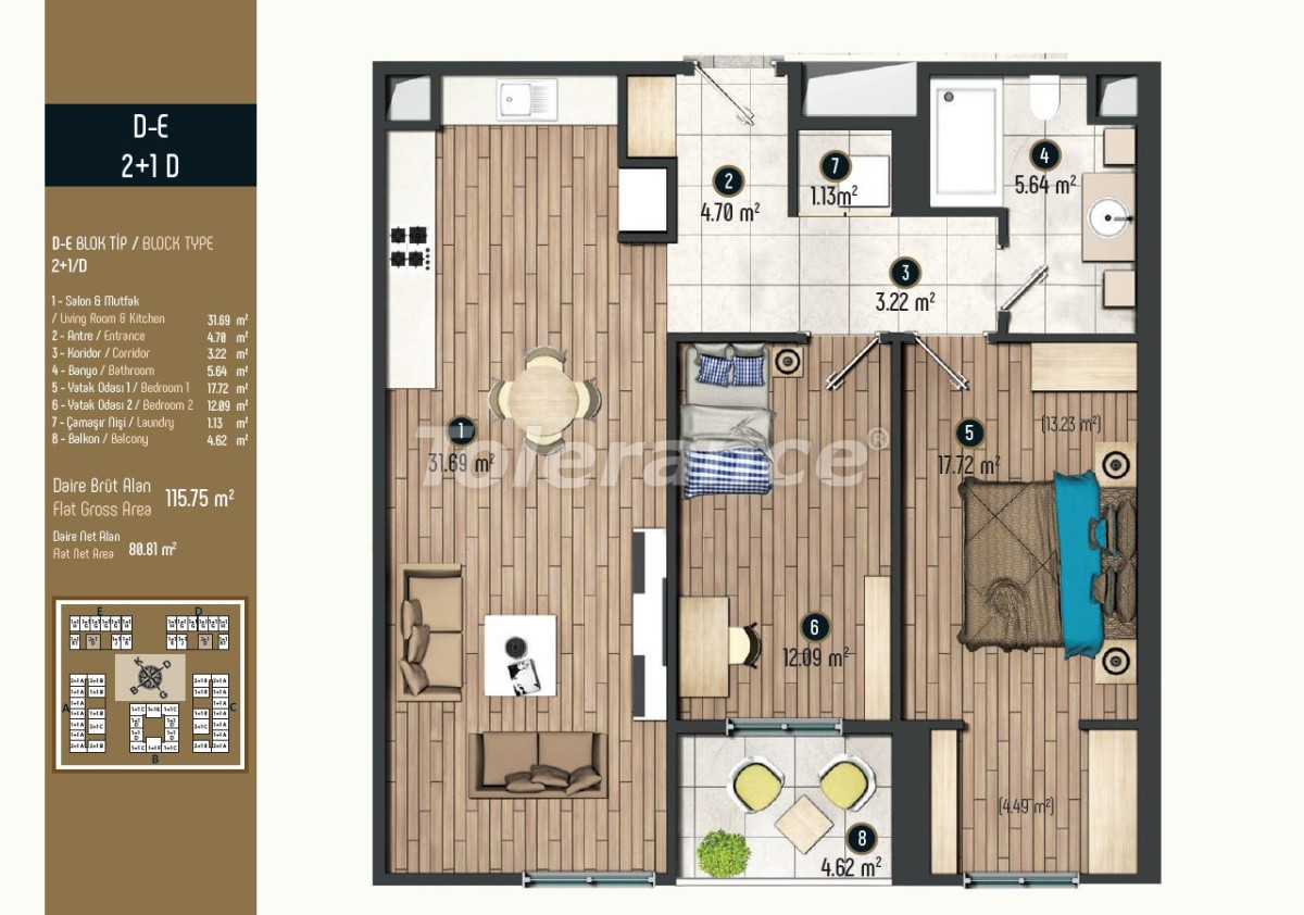 Luxury apartments in Istanbul in a modern complex, profitable for investment - 34579   Tolerance Homes