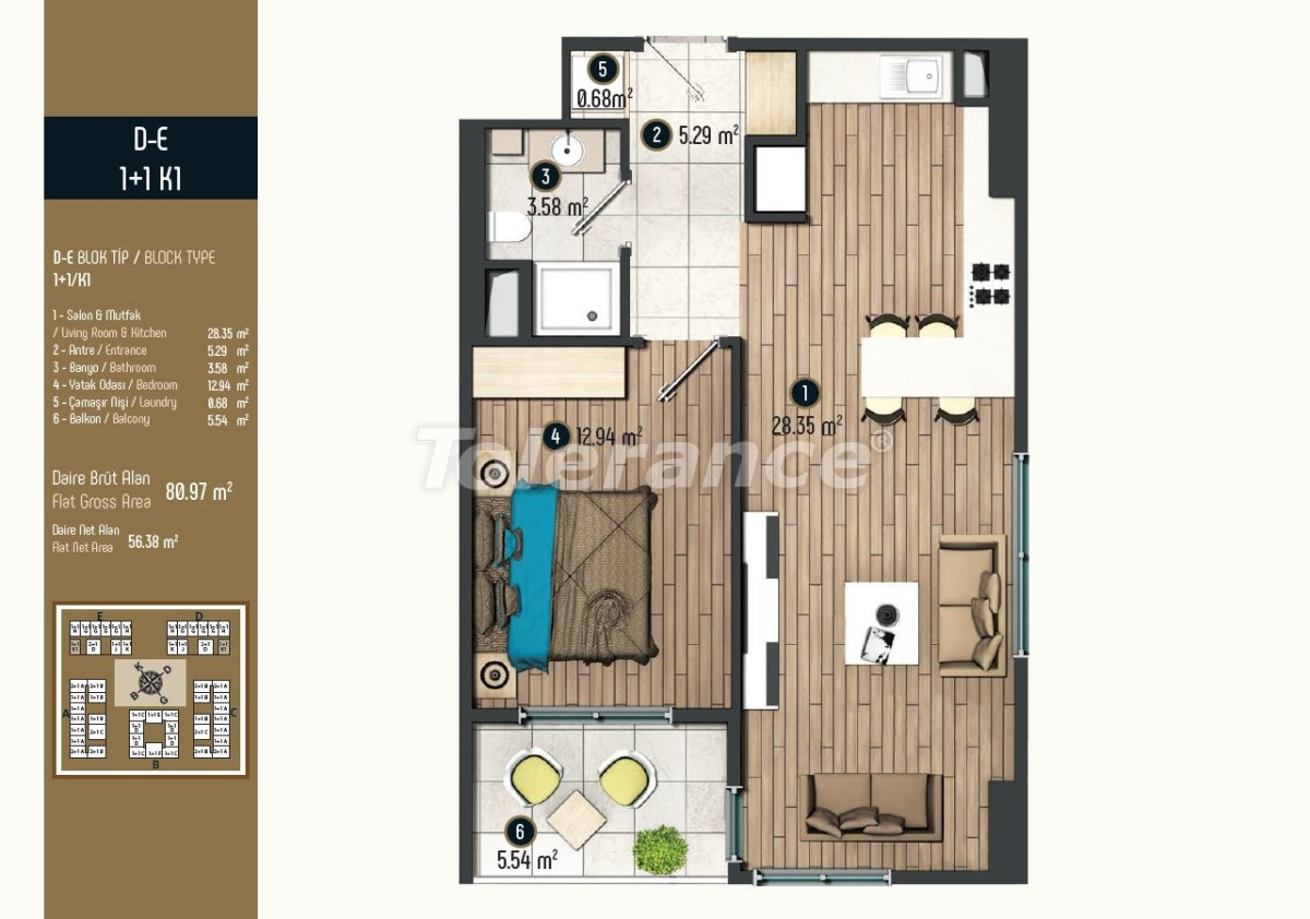 Luxury apartments in Istanbul in a modern complex, profitable for investment - 34575   Tolerance Homes