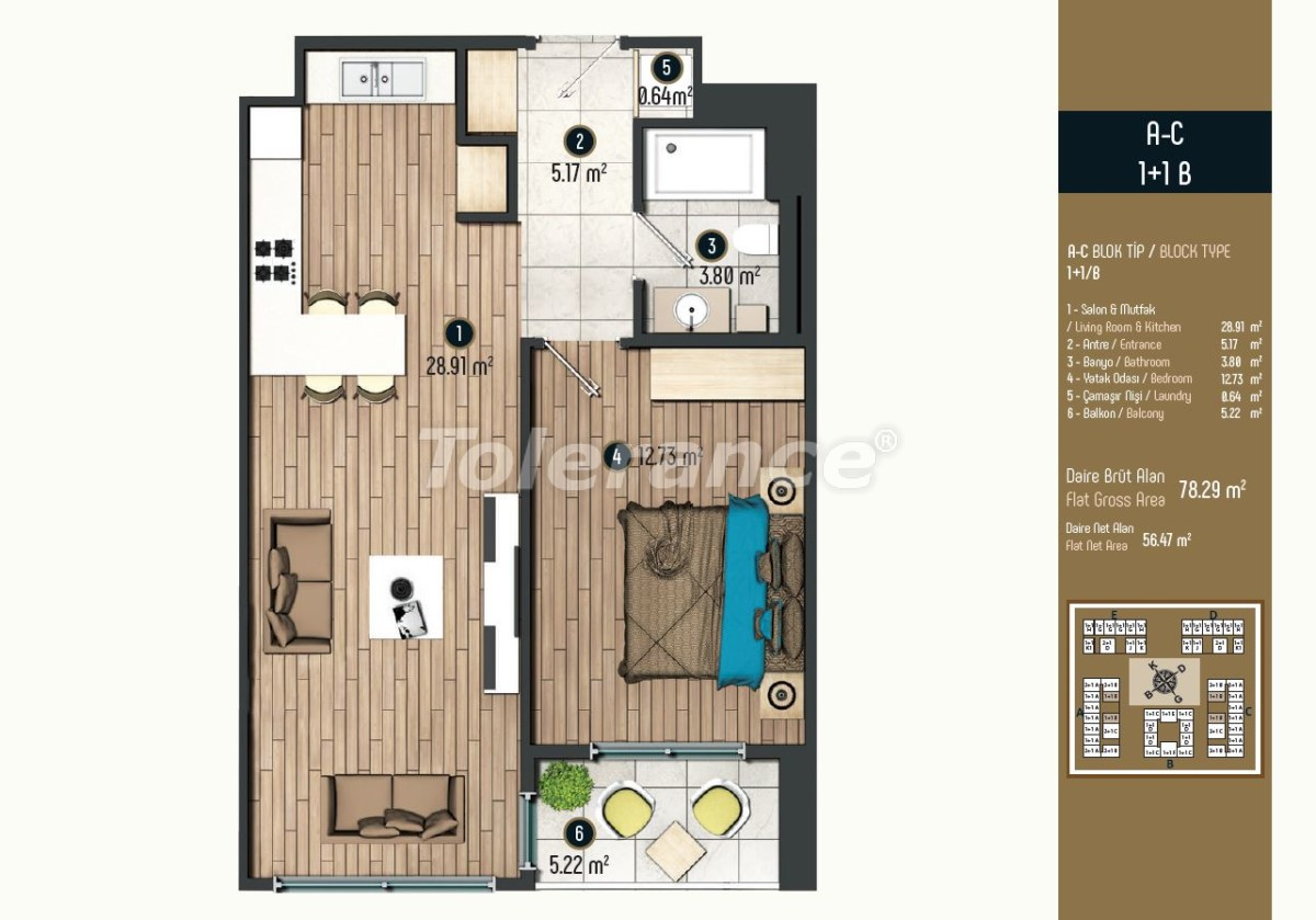 Luxury apartments in Istanbul in a modern complex, profitable for investment - 34566 | Tolerance Homes