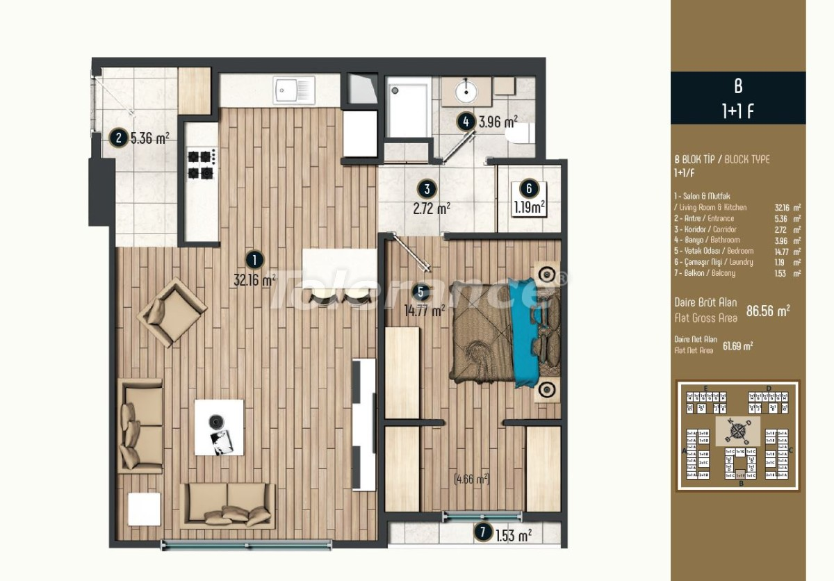 Luxury apartments in Istanbul in a modern complex, profitable for investment - 34570 | Tolerance Homes