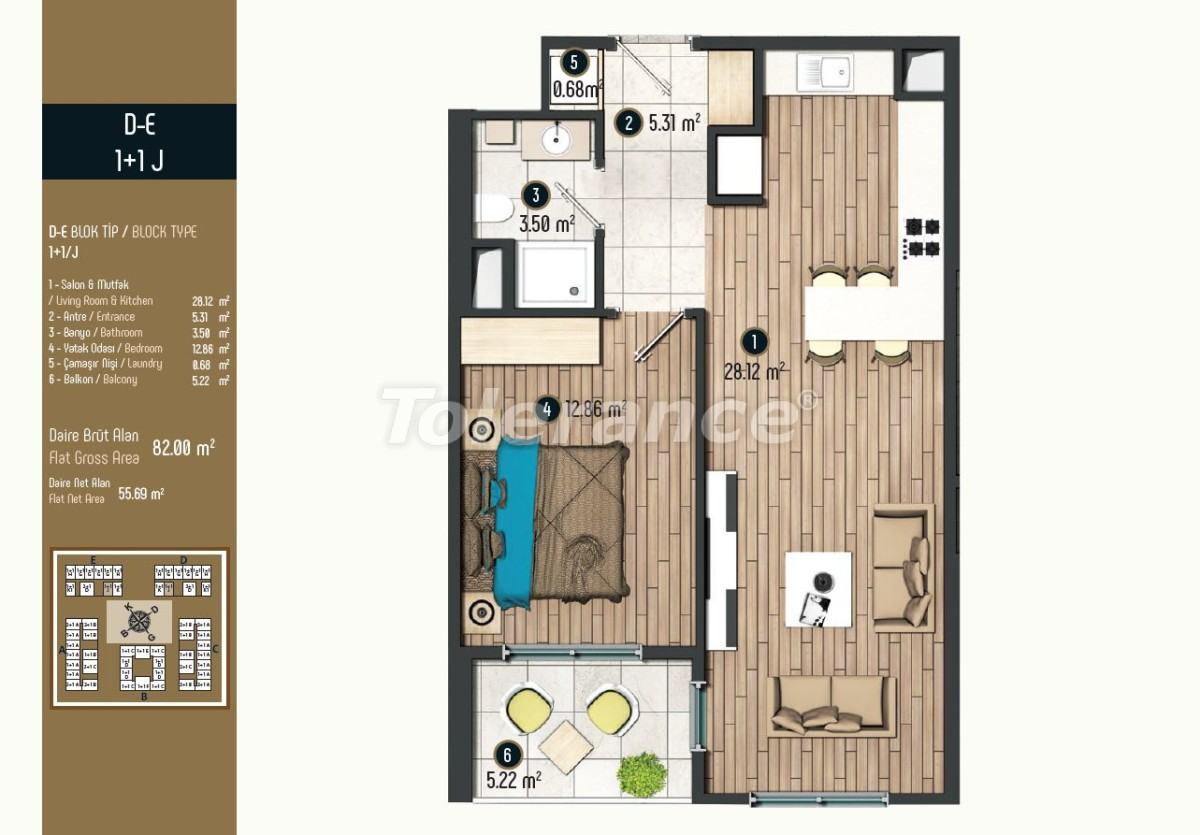 Luxury apartments in Istanbul in a modern complex, profitable for investment - 34573 | Tolerance Homes