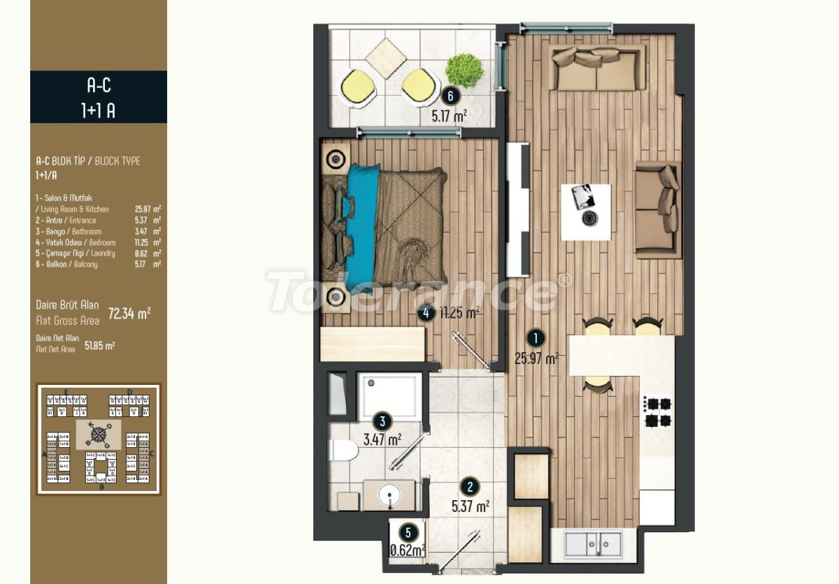 Luxury apartments in Istanbul in a modern complex, profitable for investment - 34565 | Tolerance Homes