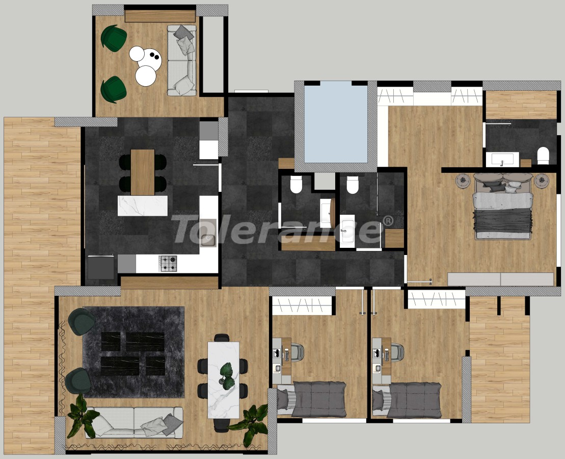 Luxury apartments in Yenisehir, Mersin with possibility to obtain Turkish citizenship - 35160 | Tolerance Homes