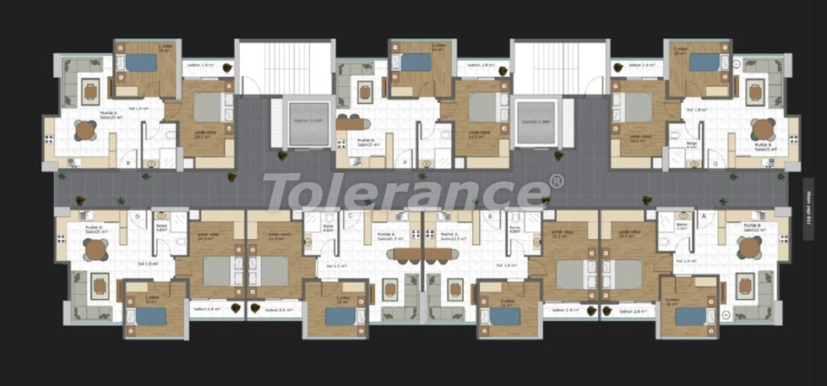 Modern design apartments in Mezitli, Mersin by installments from the developer - 35784 | Tolerance Homes