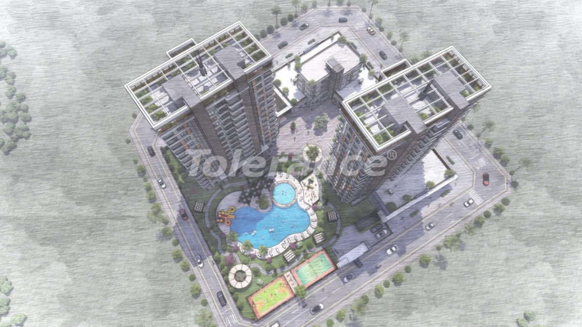 Apartments in Tece, Mersin in a complex with infrastructure and installments from the developer - 35828 | Tolerance Homes