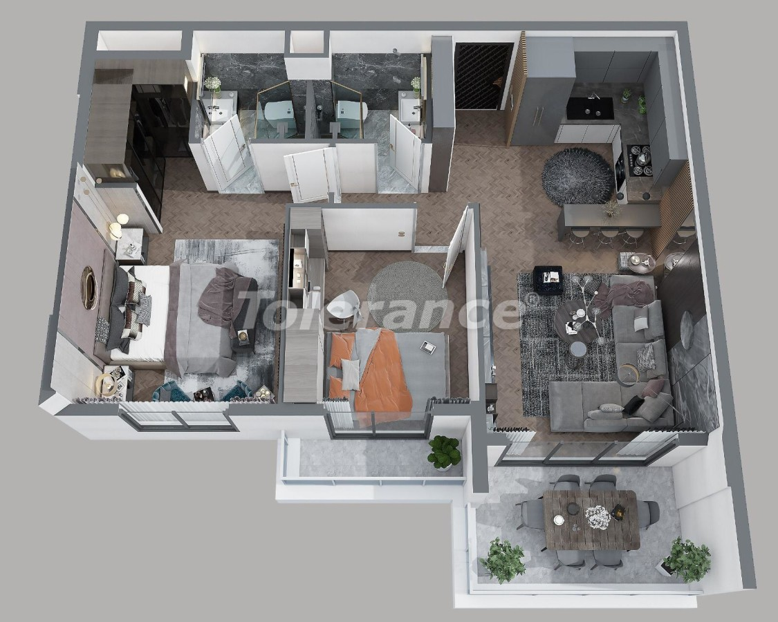 Apartments in Tece, Mersin in a complex with infrastructure and installments from the developer - 35831 | Tolerance Homes
