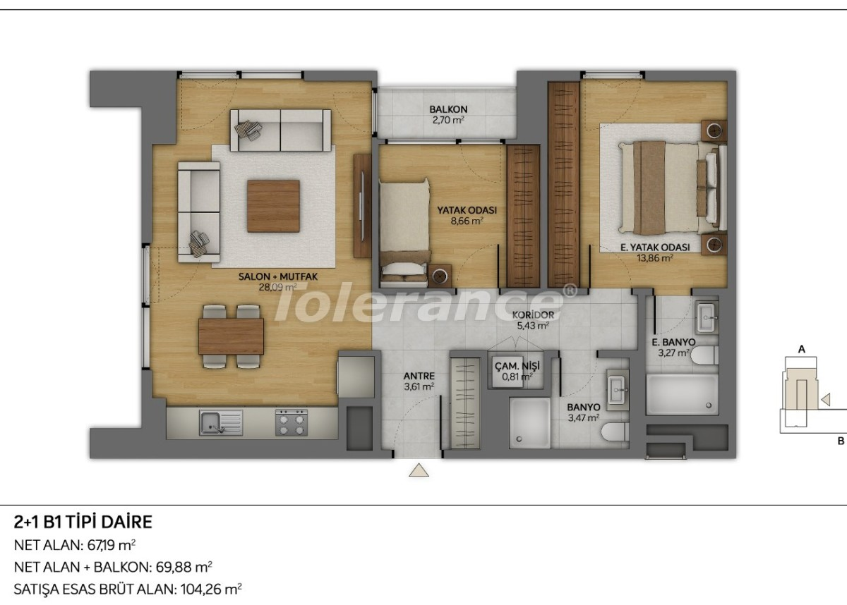 Modern apartments in Topkapi, Istanbul with installments from the developer - 35879 | Tolerance Homes