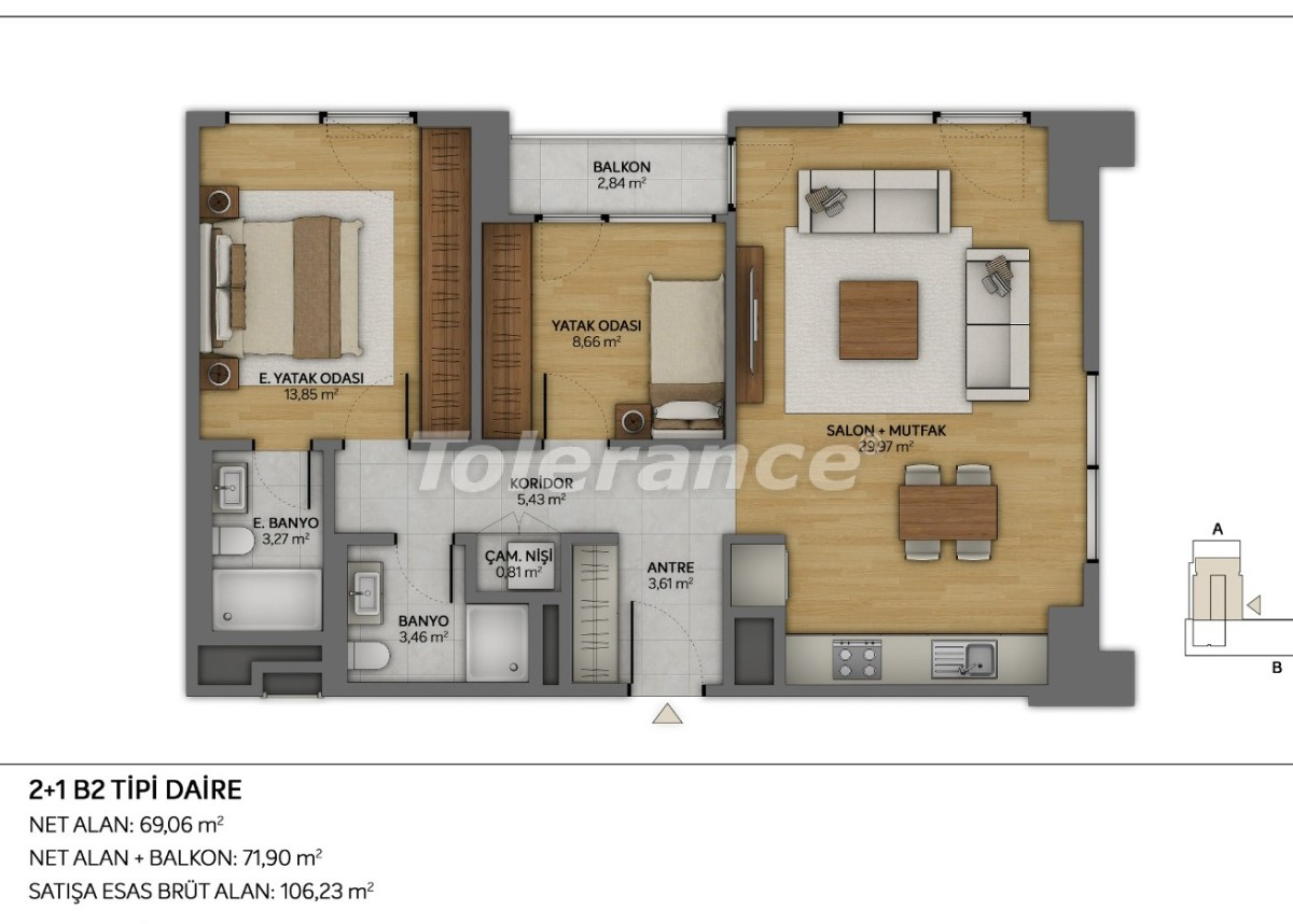 Modern apartments in Topkapi, Istanbul with installments from the developer - 35876 | Tolerance Homes