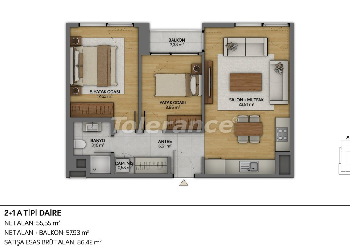 Modern apartments in Topkapi, Istanbul with installments from the developer - 35881 | Tolerance Homes