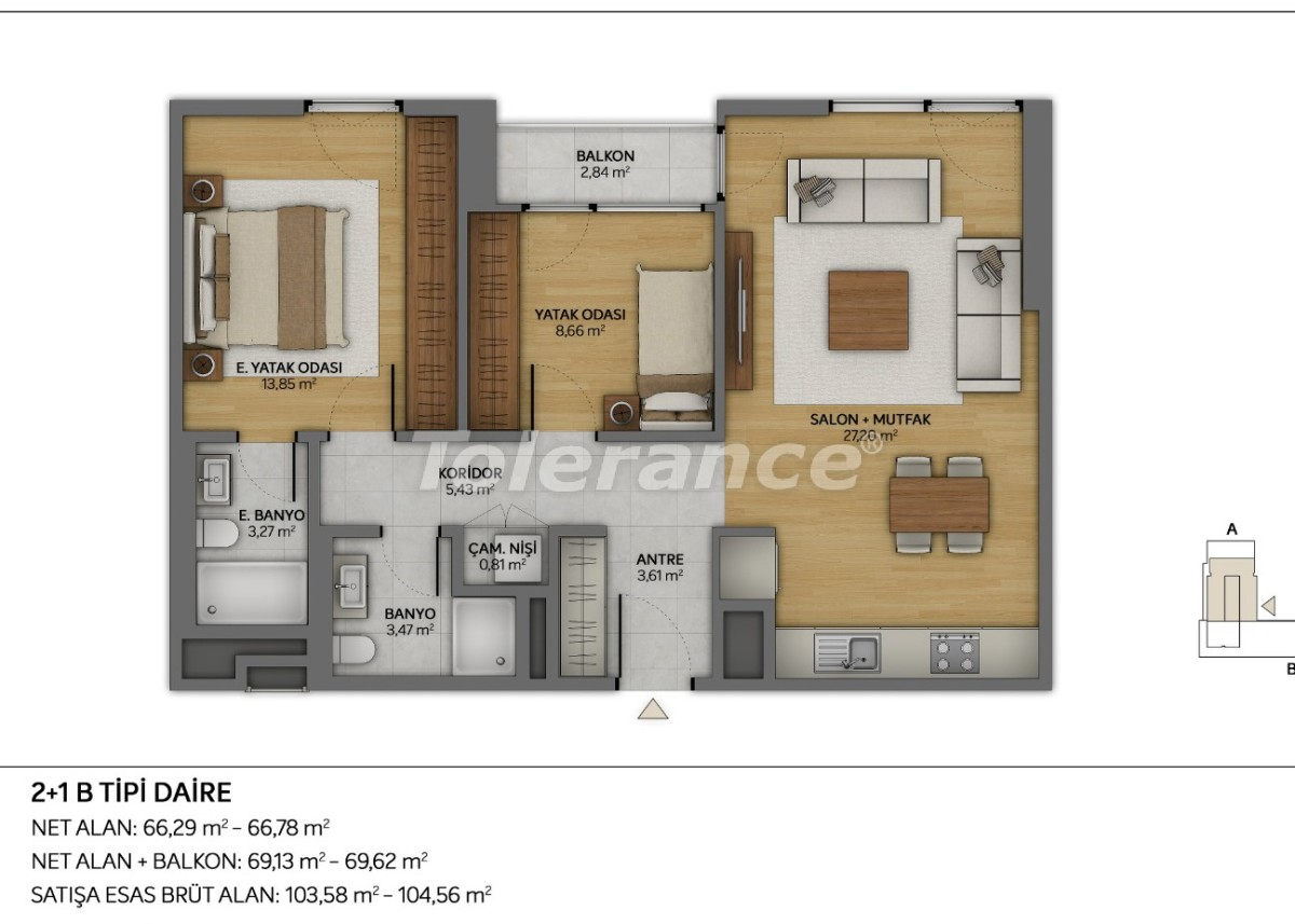 Modern apartments in Topkapi, Istanbul with installments from the developer - 35882 | Tolerance Homes