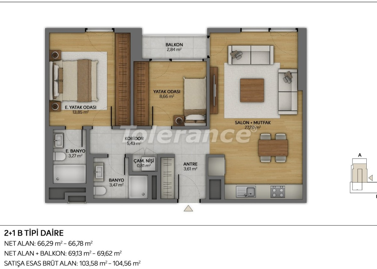 Modern apartments in Topkapi, Istanbul with installments from the developer - 35878 | Tolerance Homes