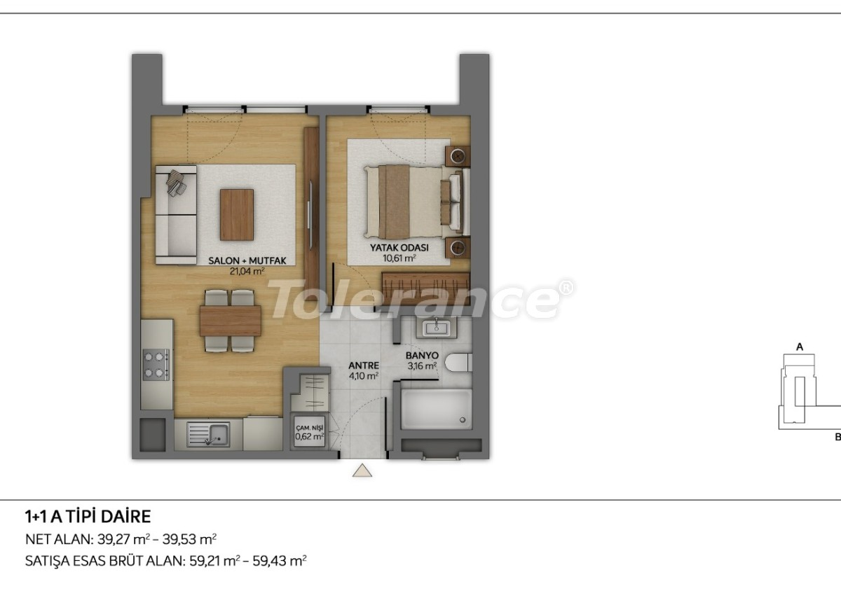 Modern apartments in Topkapi, Istanbul with installments from the developer - 35877 | Tolerance Homes