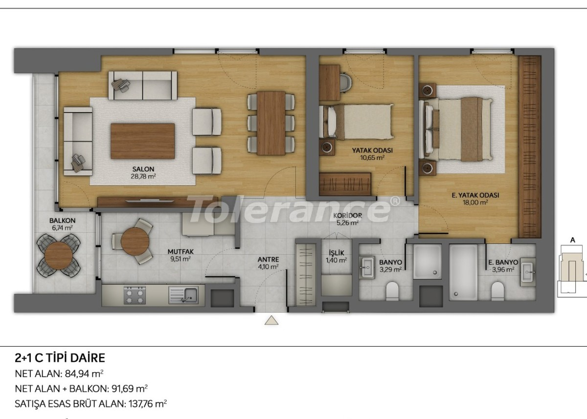 Modern apartments in Topkapi, Istanbul with installments from the developer - 35883 | Tolerance Homes