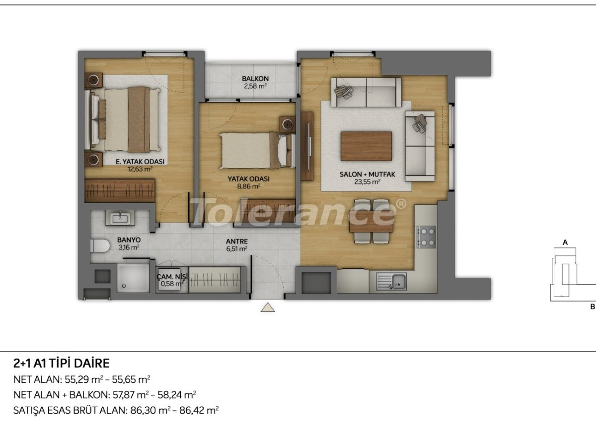 Modern apartments in Topkapi, Istanbul with installments from the developer - 35880 | Tolerance Homes