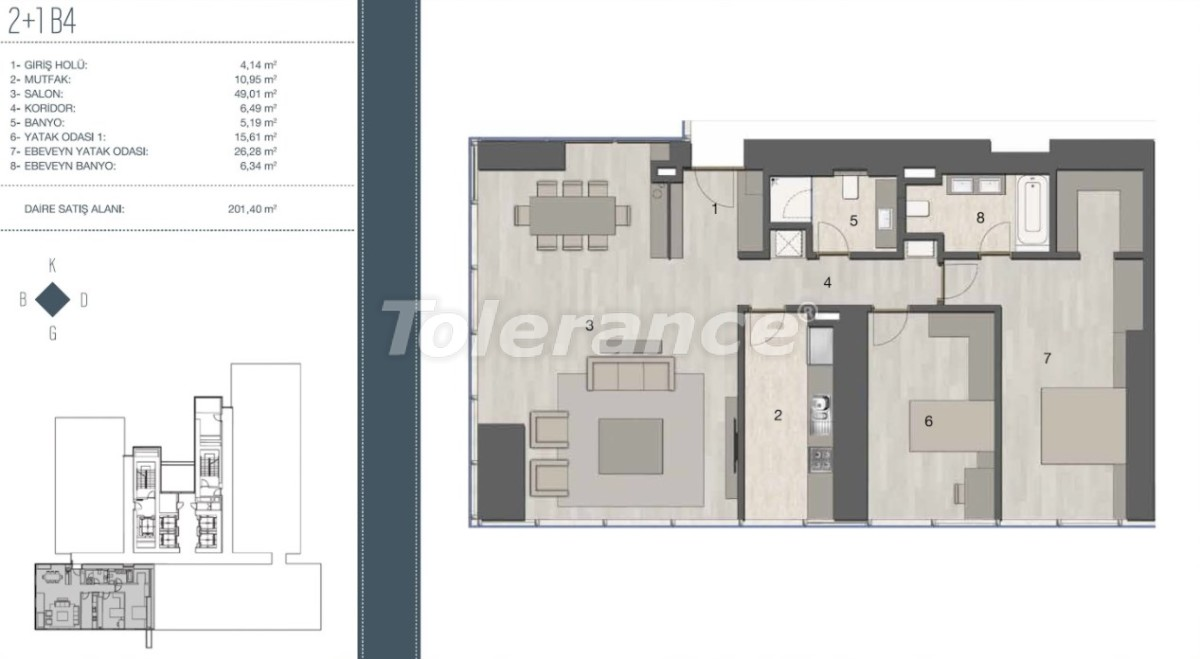 Elite apartments in the most prestigious area of Istanbul from the developer - 35958   Tolerance Homes