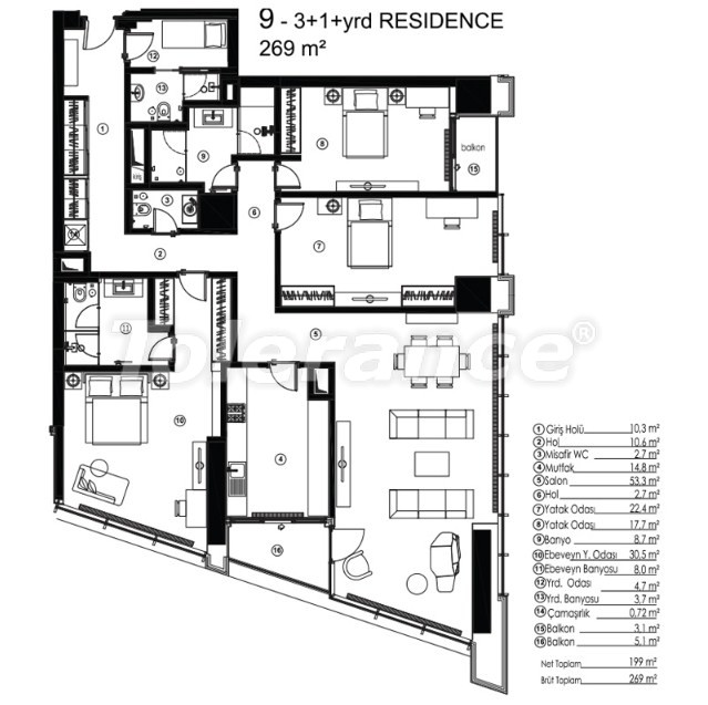 Modern apartments in Sariyer, Istanbul with the possibility of obtaining citizenship - 36081 | Tolerance Homes