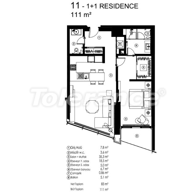 Modern apartments in Sariyer, Istanbul with the possibility of obtaining citizenship - 36077 | Tolerance Homes