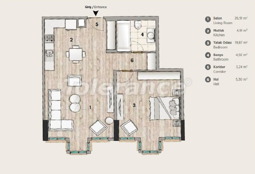 Modern design apartments in the most prestigious area of Istanbul by installments from the developer - 36069   Tolerance Homes
