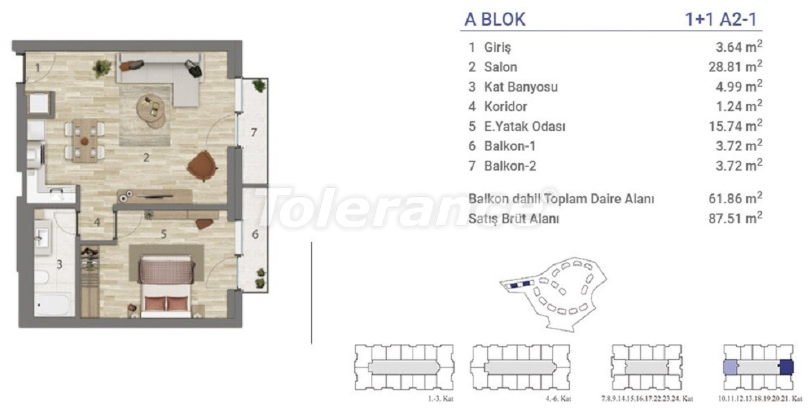Apartments in Eyapsultan, Istanbul in a project with a state guarantee - 36268   Tolerance Homes