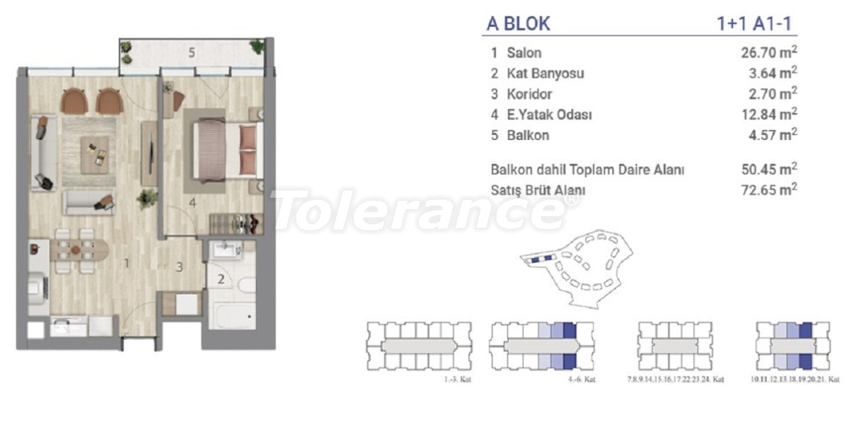 Apartments in Eyapsultan, Istanbul in a project with a state guarantee - 36267   Tolerance Homes