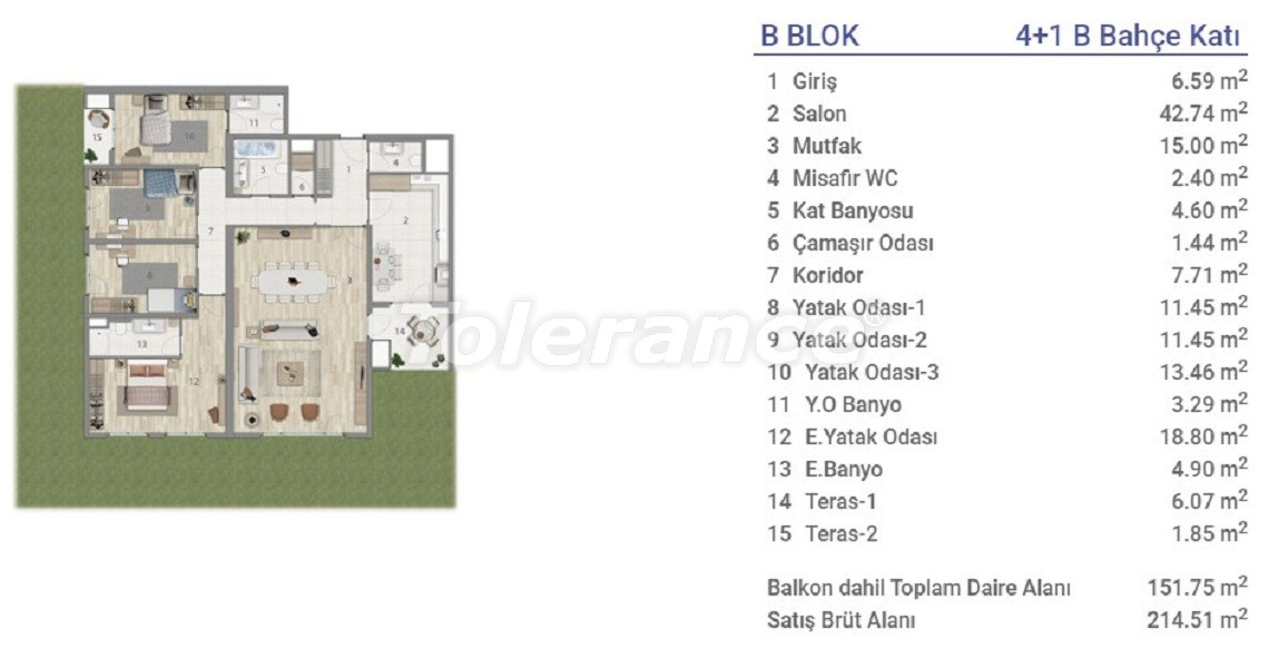 Apartments in Eyapsultan, Istanbul in a project with a state guarantee - 36277   Tolerance Homes