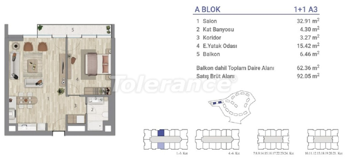 Apartments in Eyapsultan, Istanbul in a project with a state guarantee - 36269   Tolerance Homes