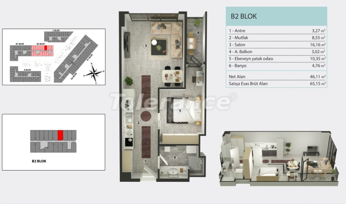 Apartments in Kucukcekmece, Istanbul by  installments from the developer - 36259   Tolerance Homes
