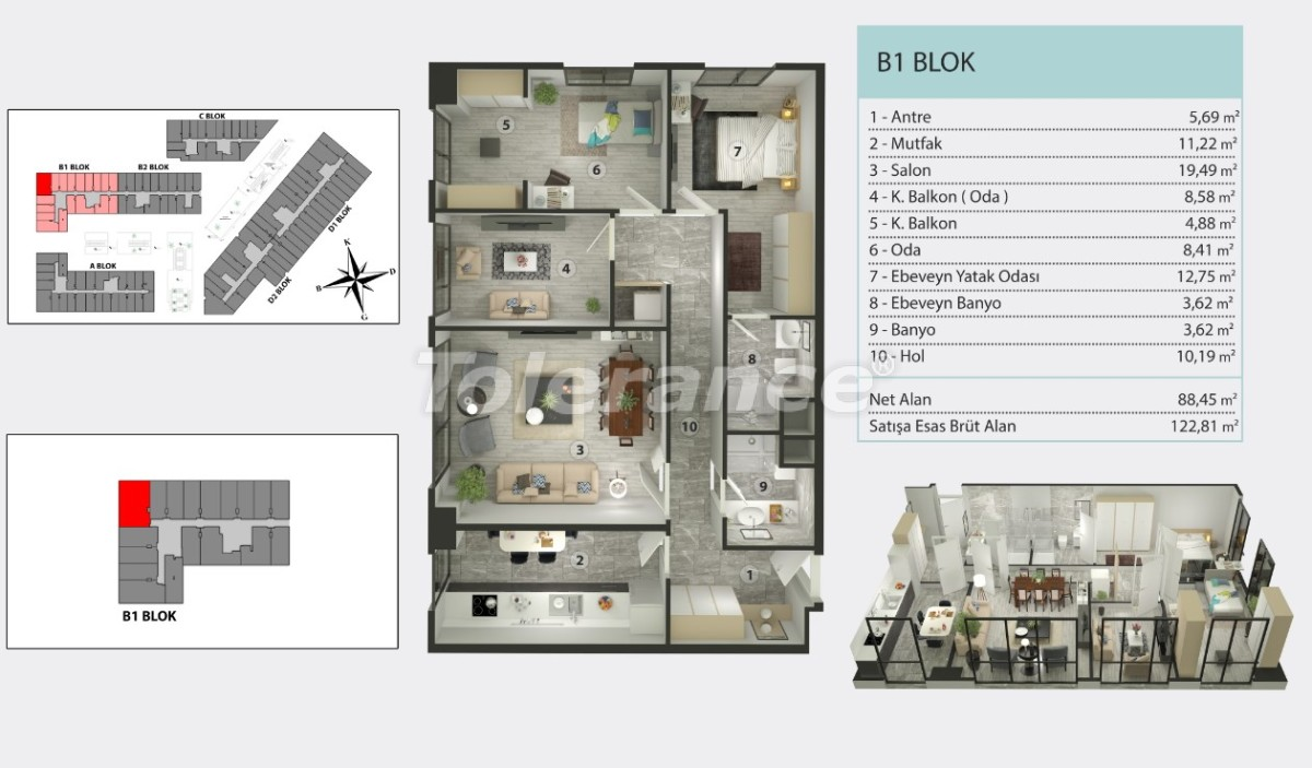 Apartments in Kucukcekmece, Istanbul by  installments from the developer - 36260   Tolerance Homes