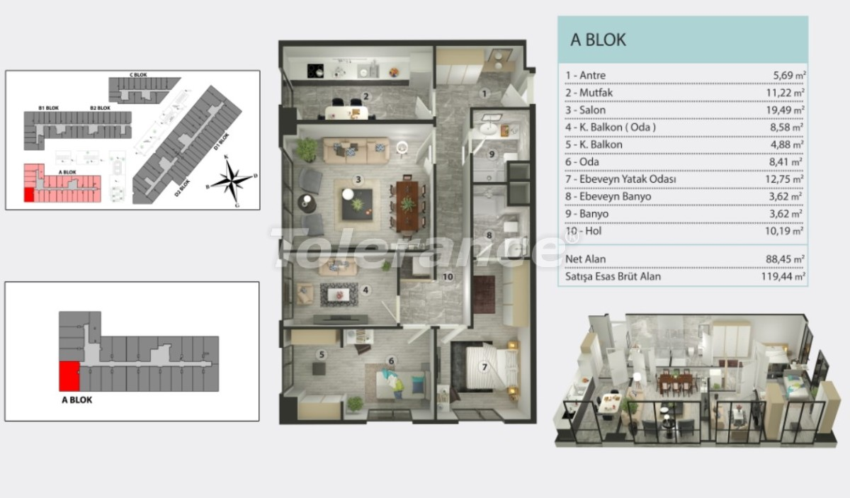 Apartments in Kucukcekmece, Istanbul by  installments from the developer - 36265   Tolerance Homes
