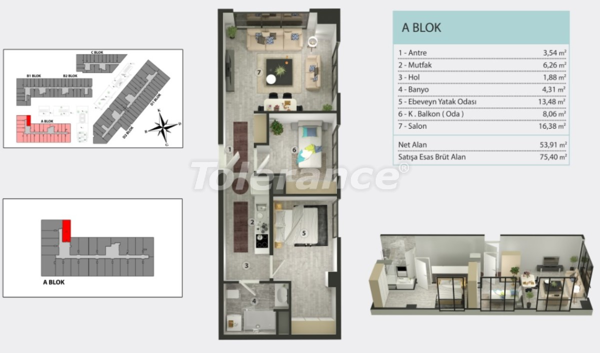 Apartments in Kucukcekmece, Istanbul by  installments from the developer - 36266   Tolerance Homes