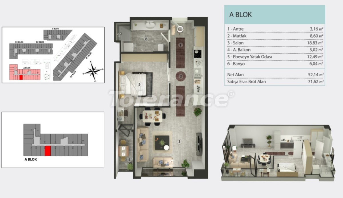 Apartments in Kucukcekmece, Istanbul by  installments from the developer - 36263   Tolerance Homes