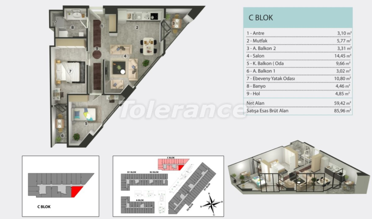 Apartments in Kucukcekmece, Istanbul by  installments from the developer - 36262   Tolerance Homes