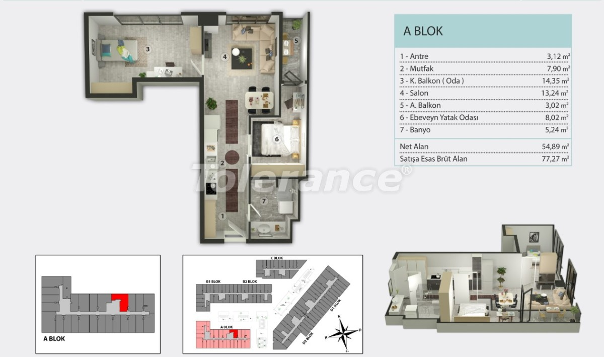 Apartments in Kucukcekmece, Istanbul by  installments from the developer - 36261   Tolerance Homes