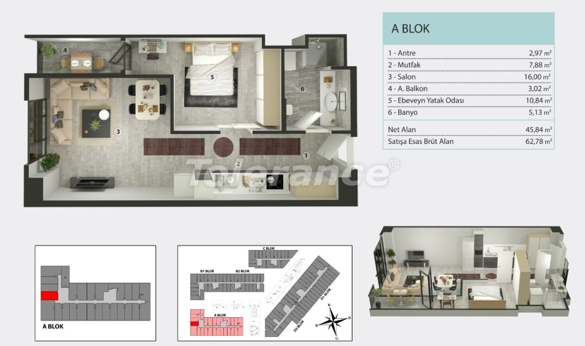 Apartments in Kucukcekmece, Istanbul by  installments from the developer - 36258   Tolerance Homes