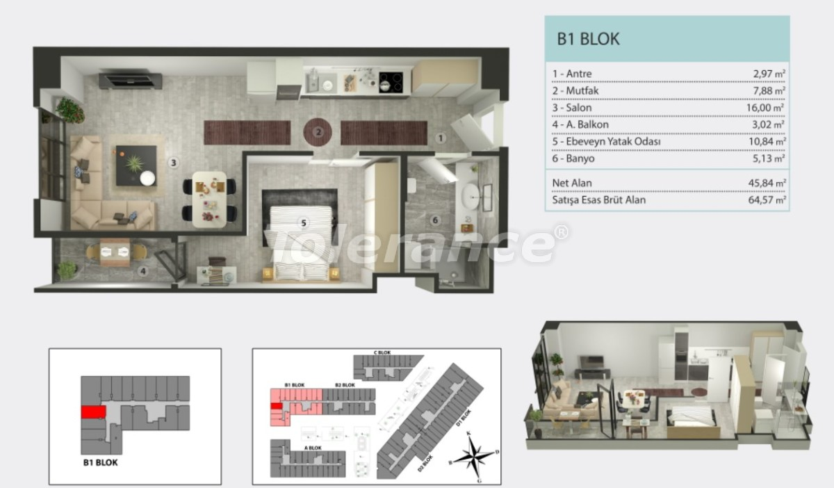 Apartments in Kucukcekmece, Istanbul by  installments from the developer - 36264   Tolerance Homes