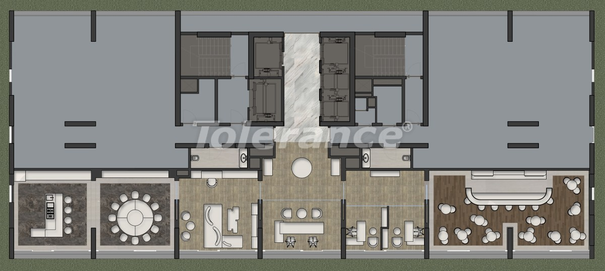 Luxury apartments in Kadikoy, Istanbul in a hotel-type complex with 3 years rental guarantee - 42087 | Tolerance Homes
