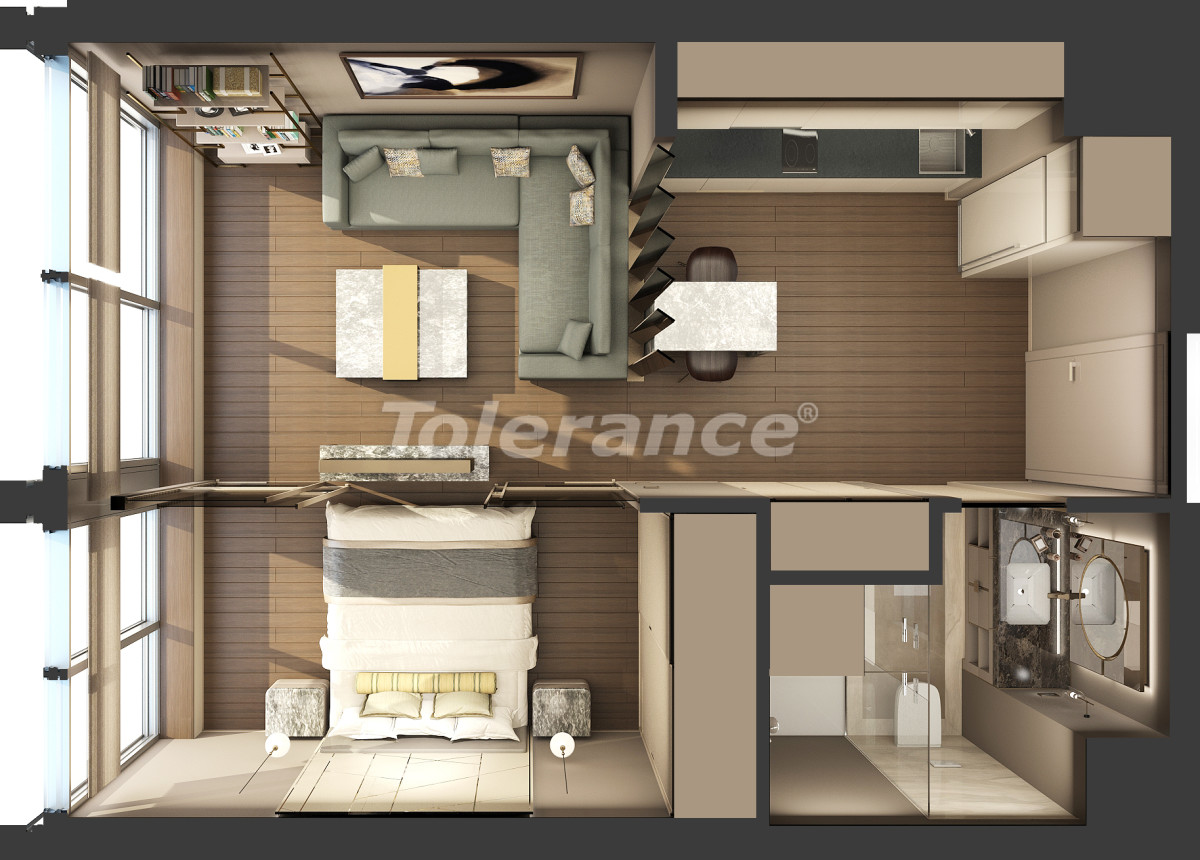 Luxury apartments in Kadikoy, Istanbul in a hotel-type complex with 3 years rental guarantee - 42082 | Tolerance Homes
