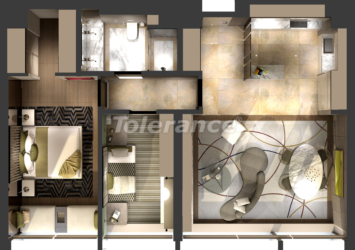 Luxury apartments in Kadikoy, Istanbul in a hotel-type complex with 3 years rental guarantee - 42084 | Tolerance Homes