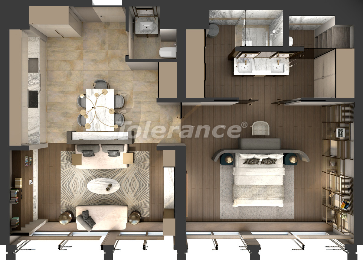 Luxury apartments in Kadikoy, Istanbul in a hotel-type complex with 3 years rental guarantee - 42083 | Tolerance Homes