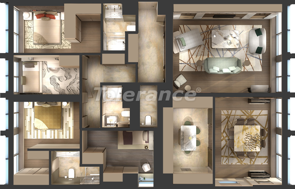 Luxury apartments in Kadikoy, Istanbul in a hotel-type complex with 3 years rental guarantee - 42086 | Tolerance Homes