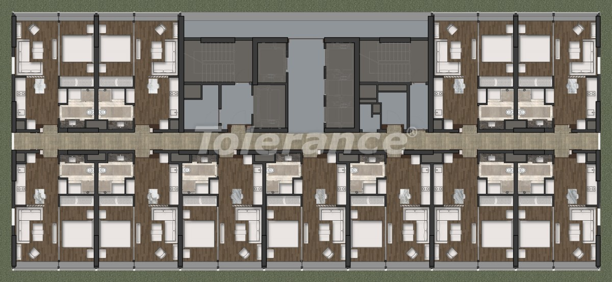 Luxury apartments in Kadikoy, Istanbul in a hotel-type complex with 3 years rental guarantee - 42088 | Tolerance Homes