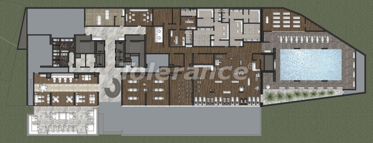 Luxury apartments in Kadikoy, Istanbul in a hotel-type complex with 3 years rental guarantee - 42090 | Tolerance Homes