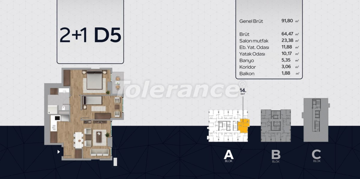 Apartments in the center of Istanbul from the developer with installments up to 2 years and possibility to obtain citizenship - 40817 | Tolerance Homes