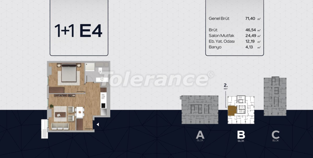Apartments in the center of Istanbul from the developer with installments up to 2 years and possibility to obtain citizenship - 40813 | Tolerance Homes