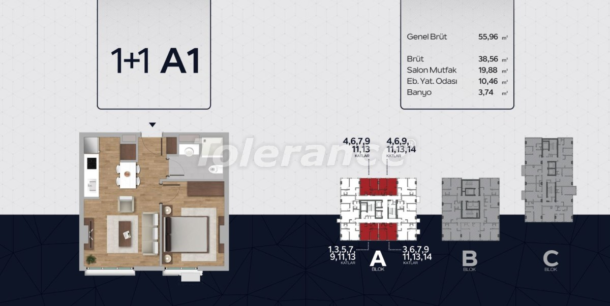 Apartments in the center of Istanbul from the developer with installments up to 2 years and possibility to obtain citizenship - 40811 | Tolerance Homes