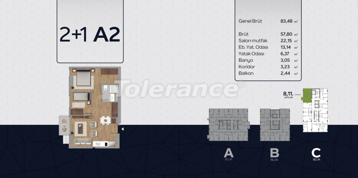 Apartments in the center of Istanbul from the developer with installments up to 2 years and possibility to obtain citizenship - 40815 | Tolerance Homes