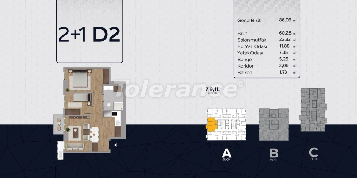 Apartments in the center of Istanbul from the developer with installments up to 2 years and possibility to obtain citizenship - 40816 | Tolerance Homes